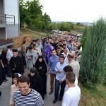 Дочек моштију Светих лекара Козме и Дамјана у Покровској цркви у Крушевцу