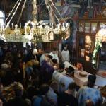 Света Тајна Јелеосвећења у Покровској цркви на Расини