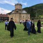 Директор канцеларије за верске заједнице г. Милета Радојевић посетио манастир Дренчу и александровачки храм у изградњи