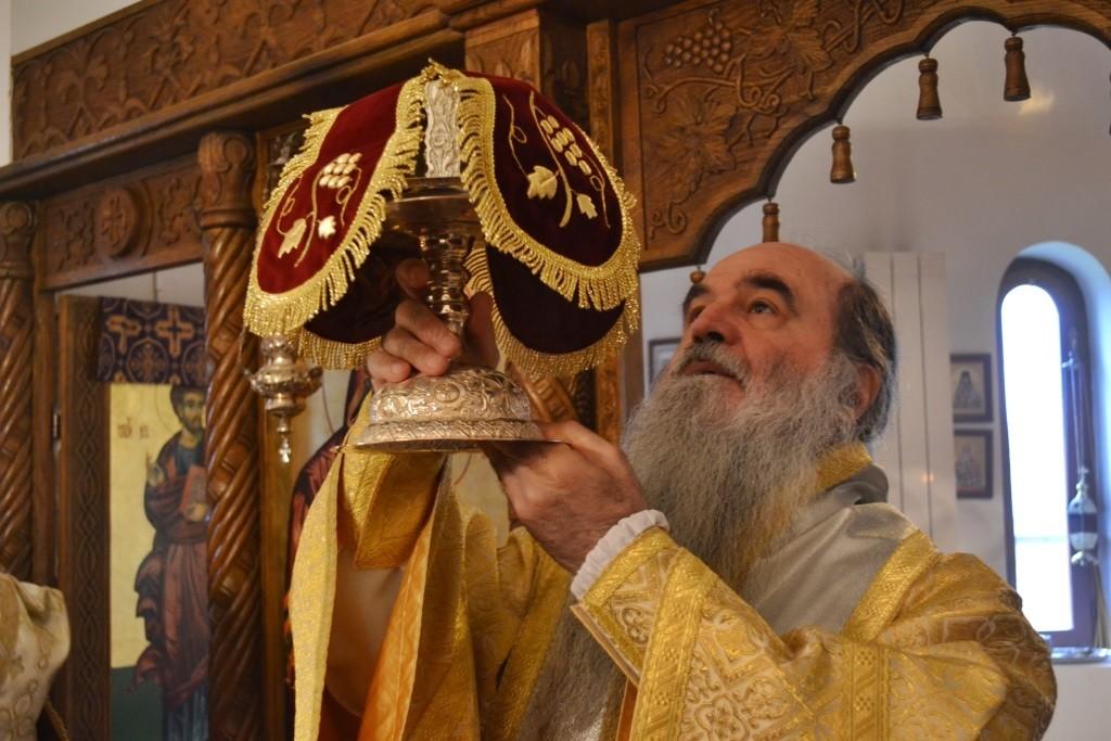 Владика Давид у манастиру Бошњане