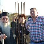 Епископ Давид обишао радове на изградњи цркве у Кошевима