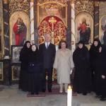 Његово Краљевско Височанство у посети манастиру Љубостиња