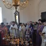 Света Архијерејска Литургија на Задушнице у цркви светог Агатоника у Крушевцу
