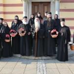 Пријем монаштва Епархије крушевачке у епархијској резиденцији у Крушевцу